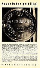1954 NSU Neckarsulm 125 ccm 1953 Weltmeister 14x20 cm original Printwerbung