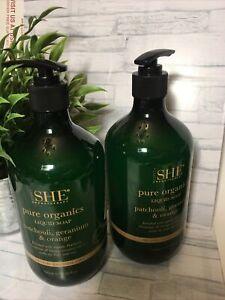 2 Om She Aromatherapy Patchouli, Geranium & Orange Liquid Soap 750mL XL