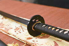 handmade full tang black carbon steel blade Katana japanese samurai sword sharp