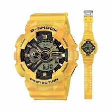 GA-110CM-9A Yellow Casio Watches G-Shock Camouflage Linited Edition Resin 200m