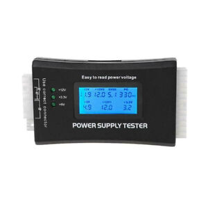 20/24Pin 4 PSU ATX BTX ITX SATA HDD LCD Digital Power Supply Tester For Computer