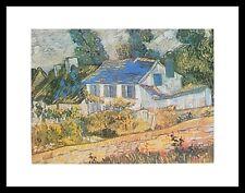 Vincent van Gogh Häuser in Auvers Poster Bild Kunstdruck im Alu Rahmen 24x30cm