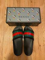 GUCCI '72 Sport Pursuit Slides Men Black Sandals Flip Flops Size 11 US