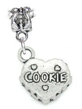 Cookie Heart Dessert Sweets Christmas Dangle Charm for European Bead Bracelets