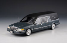 "Lincoln Town car S&S Hearse ""Grey Metallic"" (GLM Models 1:43 / 43102701)"