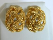 Erwin Pearl Gold textured Bead Clip On Earrings