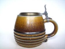 Keramik Bierkrug m.Zinndeckel Reinhold Merkelbach stein Westerwald Steinzeug Top