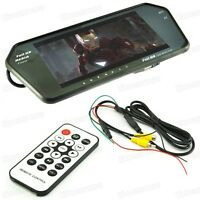 """Rearview Camera + 7"""" TFT LCD Rear View Mirror Monitor Mp4 Bluetooth for All Car"""