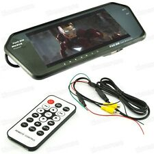 "Rearview Camera + 7"" TFT LCD Rear View Mirror Monitor Mp4 Bluetooth for All Car"