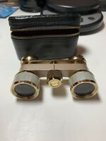 Vtg Bushnell 3X Coated Opera Theater Glasses Binoculars Mother of Pearl Inlay