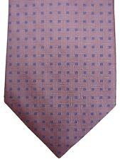 Neues AngebotTM Lewin Herren Krawatte Rosa-Blau Quadrate NEU