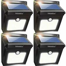Neloodony Solar Lights Outdoor Wireless 28 LED Motion Sensor Solar Lights 4 Pack