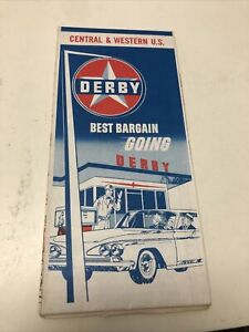 Vintage Central And Western Derby Gas Station Road Maps Best Bargain Going Derby