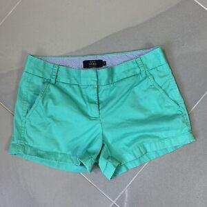 "J. Crew Chino Shorts 3"" Inseam  Women's size 4 Venetian Green"
