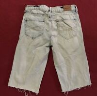 Aeropostale Bayla Skinny Destroyed Cut Off Jeans Size 2 Regular 27.5x13""