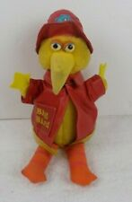 "VINTAGE 12"" SESAME STREET BIG BIRD / RED FIREMAN COAT AND HAT -  KNICKERBOCKER"