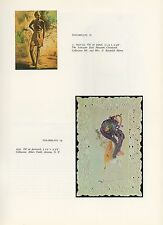 "1976 Vintage SALVADOR DALI ""TWO PORTRAITS OF GALA"" Color Art Print Lithograph"