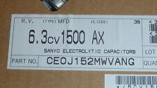 NEW 20PCS SANYO CE0J152MWVANG Electrolyt Capacitor 1500UF 6.3V SMD , cut reel