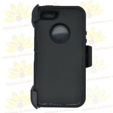 For Iphone 5/5S/SE Defender BLACK Case Cover [Belt Clip Fits Otterbox series]