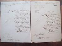 1852 DOCUMENTI MANOSCRITTI SU SISTEMAZIONE OROLOGIO DELLA TORRE DI GALLIPOLI