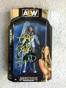 DR. BRITT BAKER DMD signed autographed AEW Unmatched figure #1 PROOF wrestling