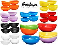 6 PC Porcelain Dessert Bowls Set Durable Non-toxic Ceramic Bowls Set – 18 Oz