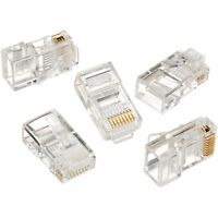 IDEAL 85-346 TELCOM MODULAR PLUG 8 POSITION 8 CONTACT CASE OF 250 PLUGS