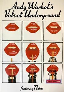 Andy Warhol's Velvet Underground Featuring Nico Red Lips Poster 23.5 x 33