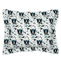 Boston Terrier Terrier Gangster Guns Bullets Crime Dog Pillow Sham by Roostery