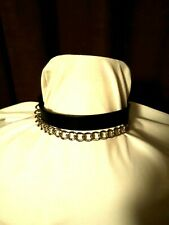 HOT TOPIC Necklace Choker with Swing CHAIN. NEW Tags