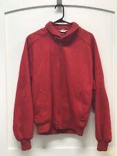 Vintage Baracuta Red Zip Up Wool/Rayon Coat Small Letterman Bomber Jacket No 904