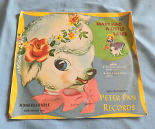 1951 Peter Pan Records Mary Had A Little Lamb with Sleeve - C3061