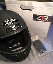 New! ZR1 Full Face ZRP-1 Motorcycle Helmet ~ Flat Black XL 62cm DOT Snowmobile