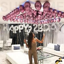 "50x Solid Metallic Balloons Chrome Shiny Latex 12"" Birthday Wedding Party Baby"