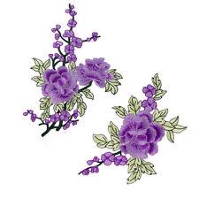 DIY Couture Artisanat Broderie Guipure Motif de Fleur Violet Mercerie Ornement