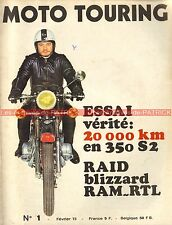 MOTO TOURING  1 KAWASAKI 350 S2 sur 20000 km ! SUZUKI GT 250 URAL 650 M63 1973