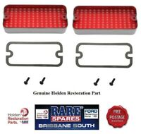 HOLDEN HQ SEDAN  MONARO REAR BUMPER BAR STOP PARK LIGHT LENS X 2 GTS SS COUPE