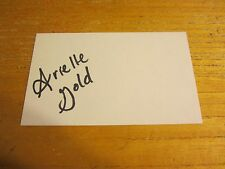 Arielle Gold Autographed Signed 3X5 Index Card USA Olympic Snowboarding