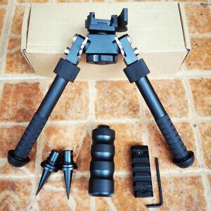 "Rifle Bipod 4.75- 9"" Foldable QD Picatinny Rail Mount Adjustable Leg CNC 5 Slots"