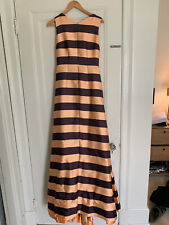 Emilia Wickstead Striped Gown UK12/US8 Orange and Burgundy