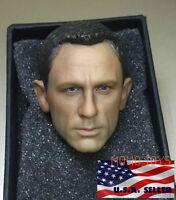 1/6 James Bond 007 Daniel Craig Head Sculpt For Skyfall Spectre Hot Toys Phicen