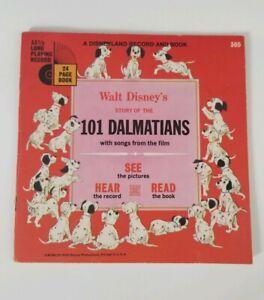 101 Dalmatians 1960 A DISNEYLAND Record and Book, Vintage Walt Disney Story