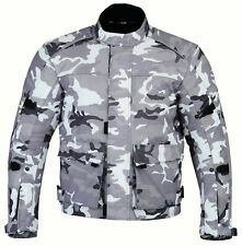 Camo Mens Camouflage Waterproof Motorbike Bike Textile Motorcycle Jacket Armours XL