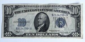 1934 A - $10 DOLLAR SILVER CERTIFICATE, BLUE SEAL