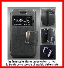 Funda Libro con Ventana para SONY XPERIA Z3 COMPACT MINI de polipiel color Negro
