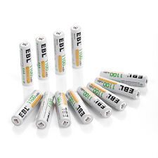 12x AAA EBL 1100mAh NiMH Rechargeable Battery for Camera Flashlight w/ Case Box