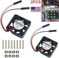 2Pcs Raspberry Pi 4 Cooling Fan Heatsink Cooler for  Pi 4/ Pi 3/3B+  Pi Zero NEW