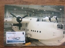Guernsey Postcard 50th Anniversary Of The Airport with Franked Stamp Sunderland