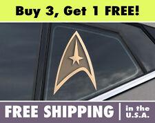 Star Trek Logo Circle Cut Vinyl Bumper Sticker Decal StarTrek