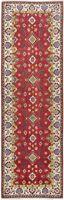 Geometric Super Kazak Oriental Runner Rug Hand-Knotted Wool Hallway Carpet 3'x9'